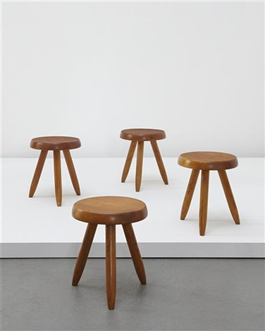 three legged stools designed for the lequipement de la maison series designed set of 4 by charlotte perriand