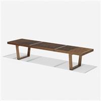 slat bench, model 4691 by george nelson & associates