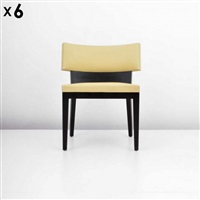 dining chairs (6 works) by christian liaigre