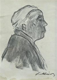 self portrait in profile by käthe kollwitz