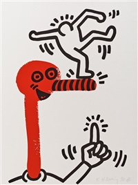 the story of red and blue (suite of 20+2) by keith haring