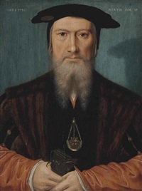 portrait of a gentleman, half-length by hans holbein the younger