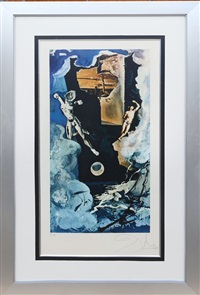 the tower (from lyle stuart tarot print suite) by salvador dalí