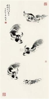 five cows by liang zhongming