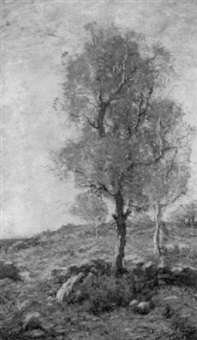 the autumn maple by louis paul dessar