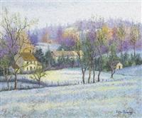 le village de nir sous le gel by lélia pissarro
