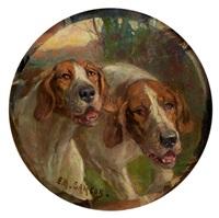 deux chiens courant by e.m. samson