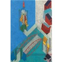 city center # 7: the lighthouse and bridge staten island, new york by siah armajani