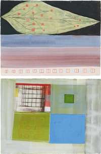 untitled (2 works) by amy sillman