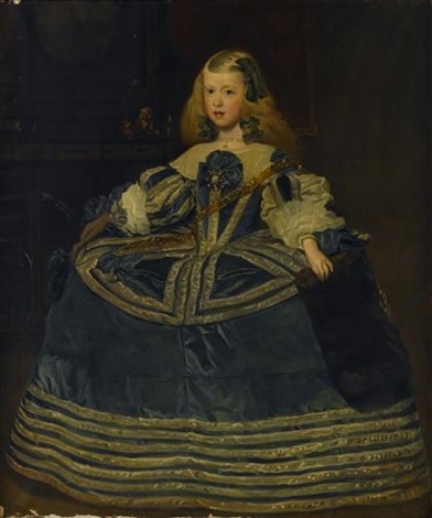 the infanta margarita teresa in a blue dress by diego rodríguez de silva y velásquez