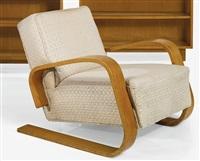 armchair, model no. 400 by alvar aalto