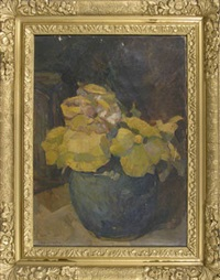 flowers in pot by r.b. vester bolderheij
