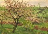 pommier en fleurs by paul-emile colin