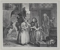 the harlot's progress (6 works) by william hogarth