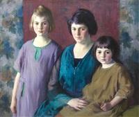 kip family portrait by ivan g. olinsky