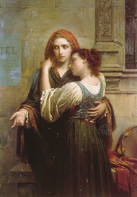 young street musicians by pierre auguste cot