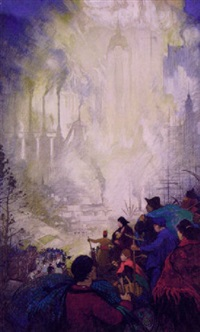immigrants arriving in industrialized new york by thornton oakley