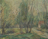 young trees by ernest lawson