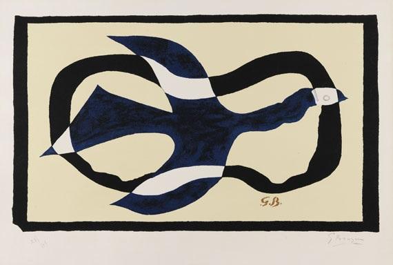 oiseau traversant un nuage oiseau xi by georges braque