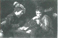 the cardsharps by jean valentin (de boulogne)