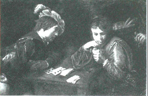 the cardsharps by jean valentin de boulogne