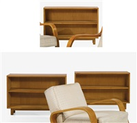 set of three bookcases, model no. 104 by alvar aalto