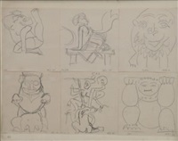 indes (6 sketches in 1 frame) by atila