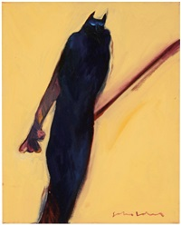 cat person #3 (native american series) by fritz scholder