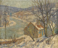 winter on the river by fern isabel coppedge