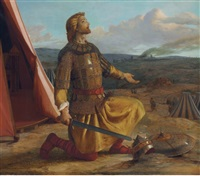 richard the lionheart giving thanks for victory by john rogers herbert
