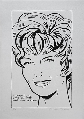 i want the girl in the wig commercial by raymond pettibon