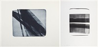 l 1976-22 (+ l 1976-19; set of 2) by hans hartung