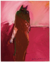cat person #1 (native american series) by fritz scholder