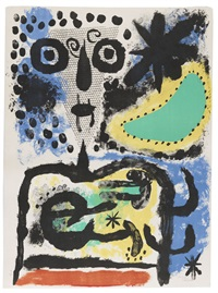 personnage nuageux by joan miró