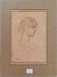 portrait de jeune fille de profil by henri gervex