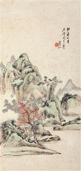 深山幽居 立轴 纸本 by huang binhong