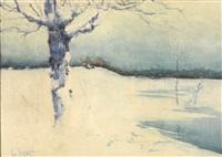 winter landscape by leon bakst