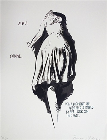 no title alice come from twelve prints portfolio by raymond pettibon by raymond pettibon