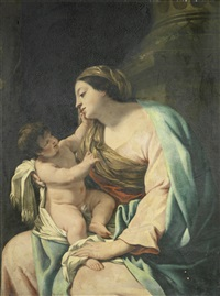 the madonna and child by simon vouet