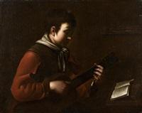 le joueur de guitare by jean-baptiste santerre
