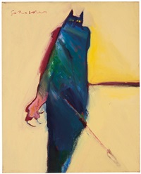 cat person #2 (native american series) by fritz scholder