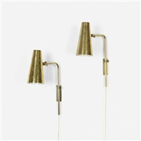 wall lamps model 9459, pair by paavo tynell