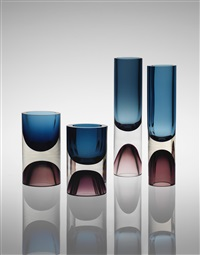 vases, including model nos. 3582 and 3584 (set of 4) by tapio wirkkala