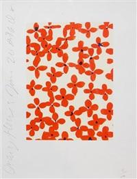 orange flowers by donald sultan