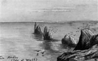 vues de la campagne française, de montagne, de normandie by édouard quesnel