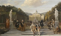 elegante gesellschaft im park by david joseph bles