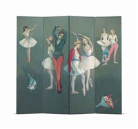 ballerinas: a four-part screen by moses soyer