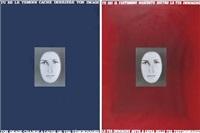 tu sei il testimone nascosto dietro la tua immagine (pair) by vincenzo agnetti