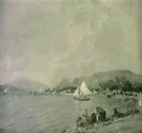 le lac du bourget by charles de meixmoron de dombasle