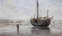 a bomschuit on the beach by gerhard arij ludwig morgenstjerne munthe